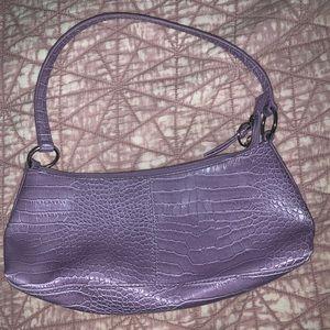 Handbags - lilac baguette purse